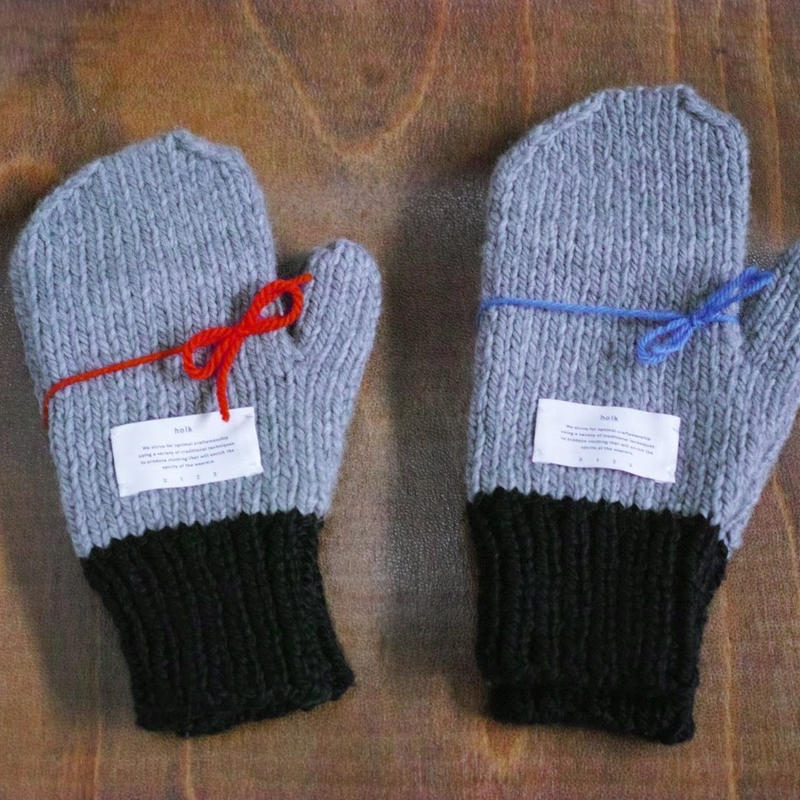 holk, hand-knitted gloves