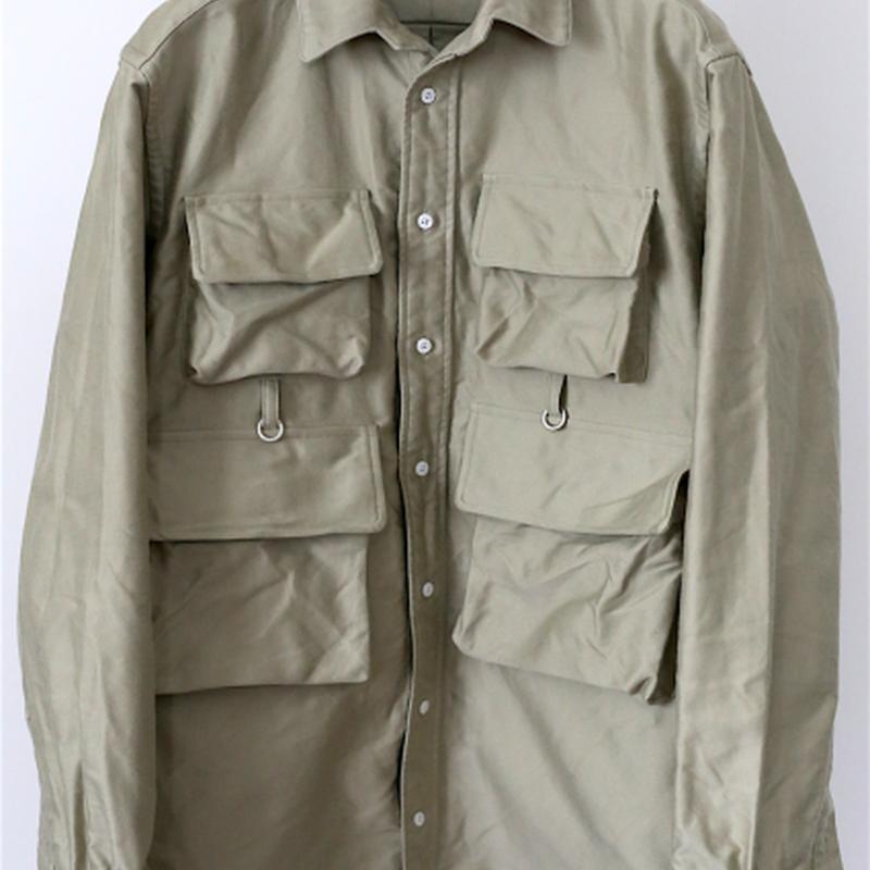 TAKE&SONS Flyman Shirt, Beige