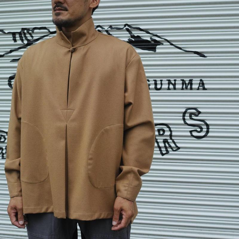 Monitaly INVERT PULLOVER Wool Flannel Camel