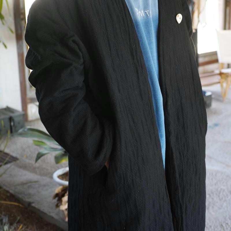HiHiHi 羽織一点物(泥染め/裏ストライプ) Size M