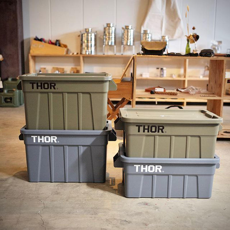 """TRUST   THOR Large Totes With Lid """"75L"""