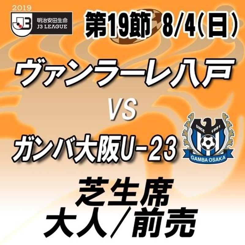 2019年8月4日(日)J3第19節 ヴァンラーレ八戸vsG大阪U-23 芝生席 大人/前売