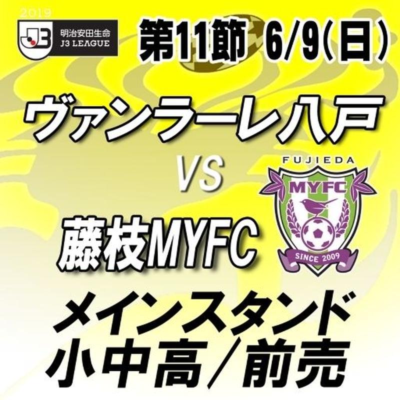 2019年6月9日(日)J3第11節ヴァンラーレ八戸vs藤枝MYFC メインスタンド 小中高/一般