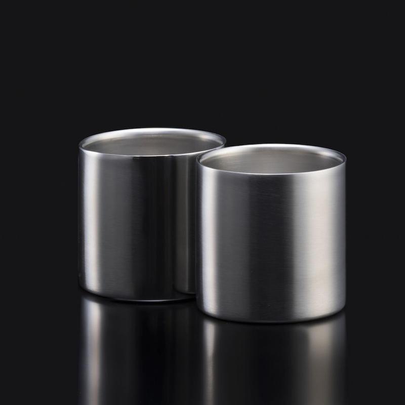 78mm ダブルステンレスタンブラーグラス プレミアム2個入