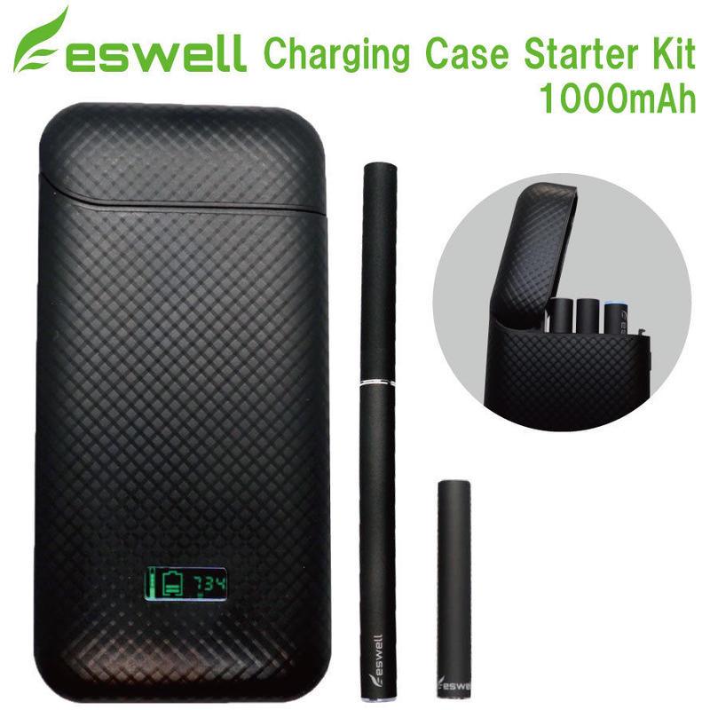 eswell プルームテック ポータブル充電ケース スターターキット 1000mAh内蔵バッテリーケース
