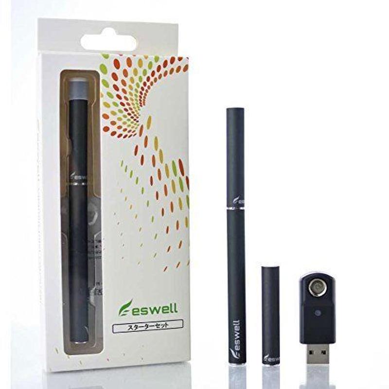 【ploomTECK互換】電子タバコ用スターターセット eswell スターターキット マットブラックキット【プルームテック】【VAPE】