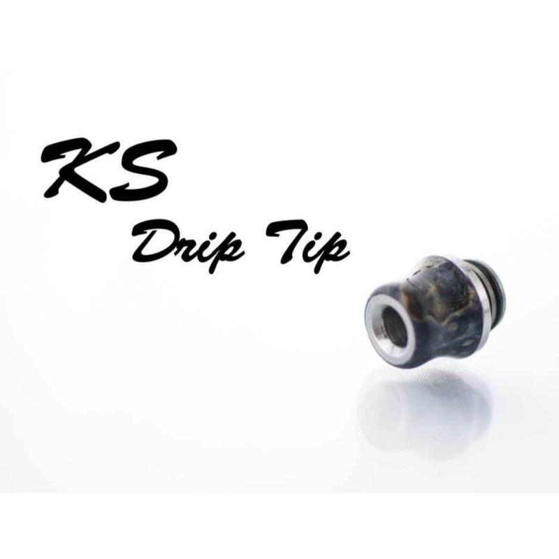KS drip tip  「クビレショート type」 スタビライズドウッド ドリップチップ 510径
