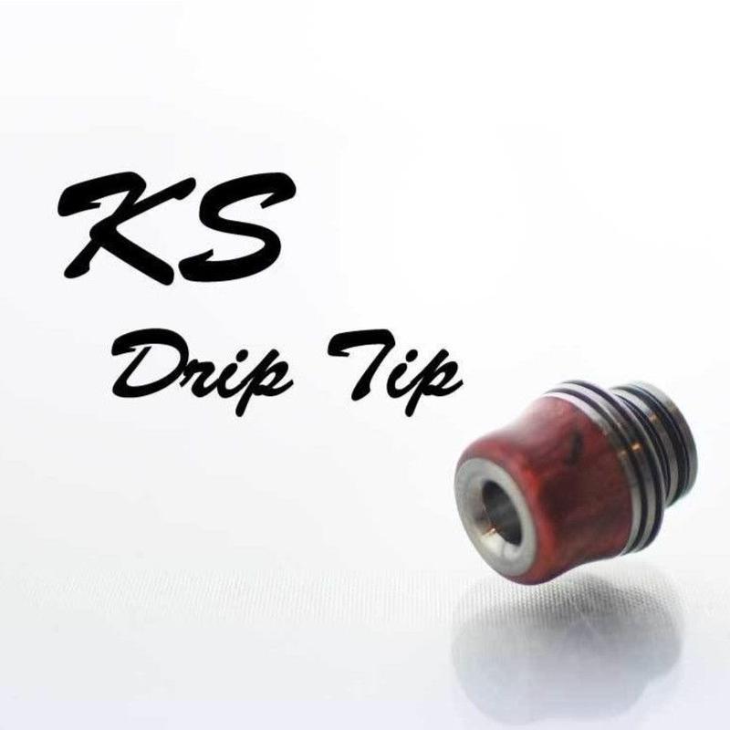 KS Drip tips スタビライズドウッド クビレ+フィンタイプ