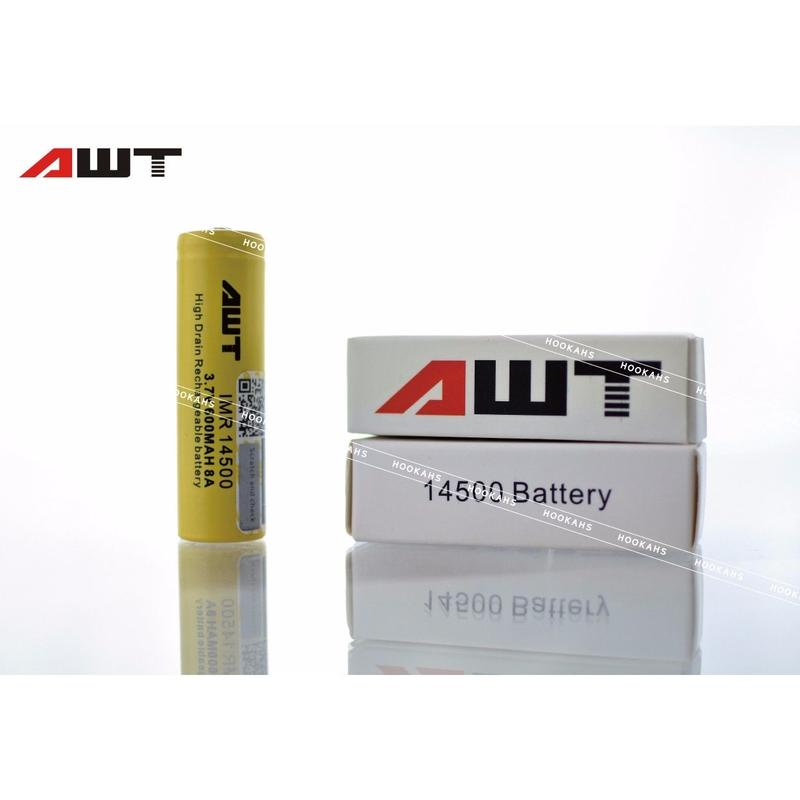 AWT 14500   8A IMR 600mAh 3.7v Li-Mn Rechargeable Battery