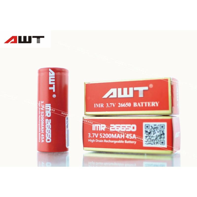 AWT 26650 45A IMR 5200mAh 3.7v Li-Mn Rechargeable Battery