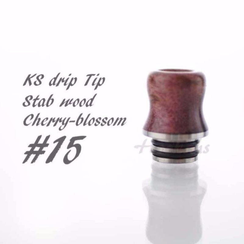 KS Drip Tip stabilized wood Drip Tip 510径 ②