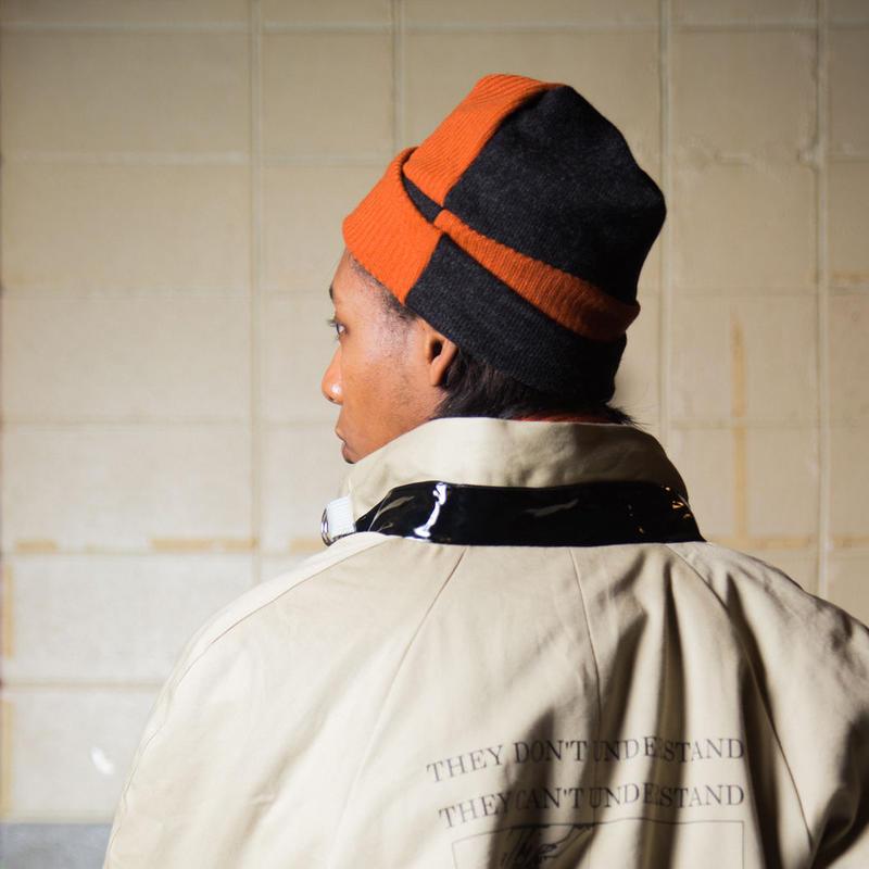 KNIT CAP / orange