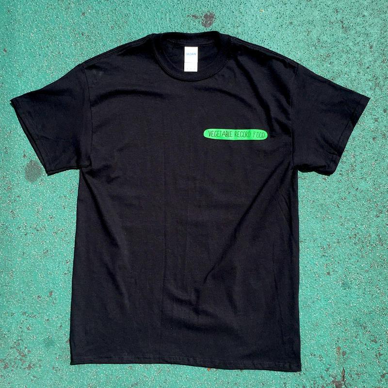ロゴTシャツ「Vegetable Record Food / Black」