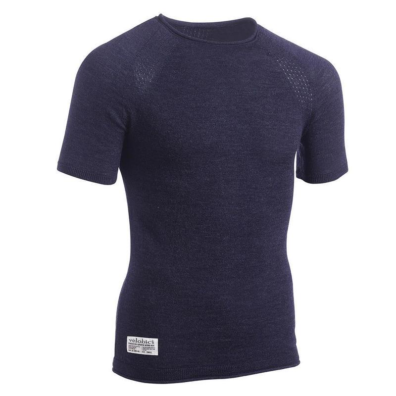 Noli Merino T/ノリ メリノウール Tシャツ(Blue)(VB-11)