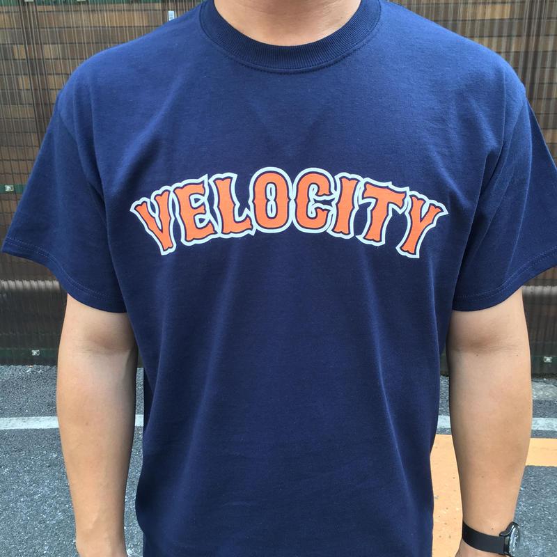 VELOCITY ベースボールロゴ Tシャツ(ネイビー)