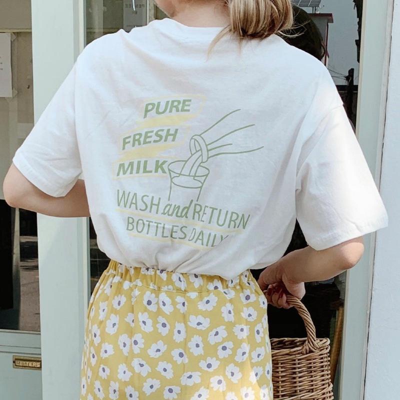 fresh milk T-shirt