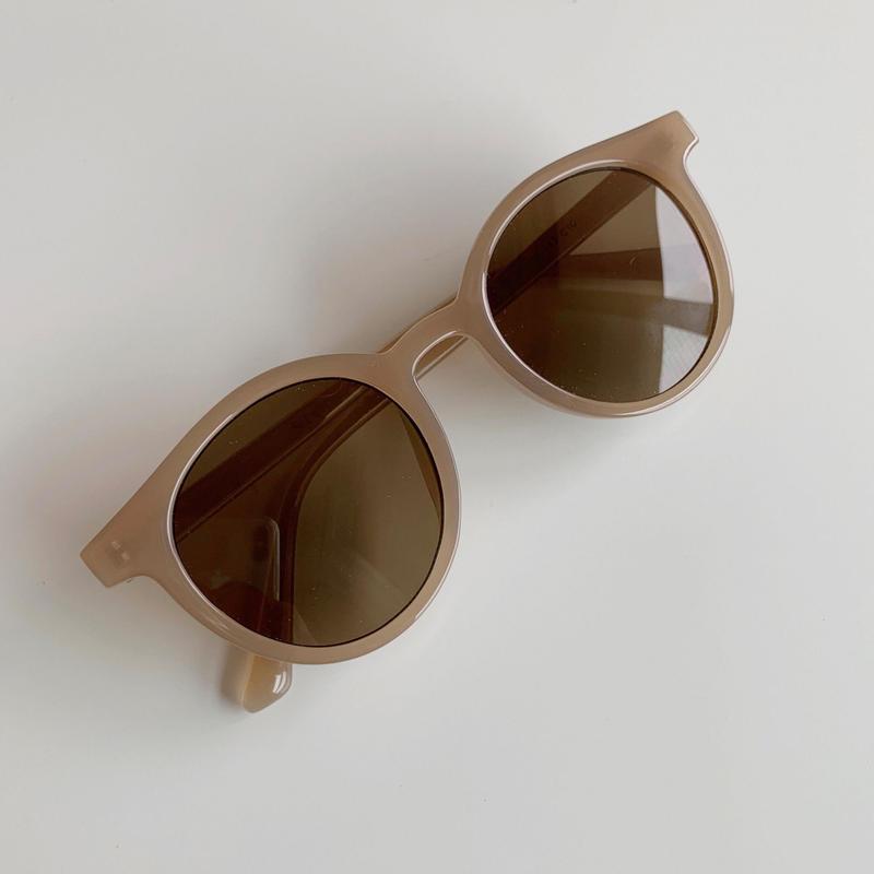 round sunglasses[light brown]