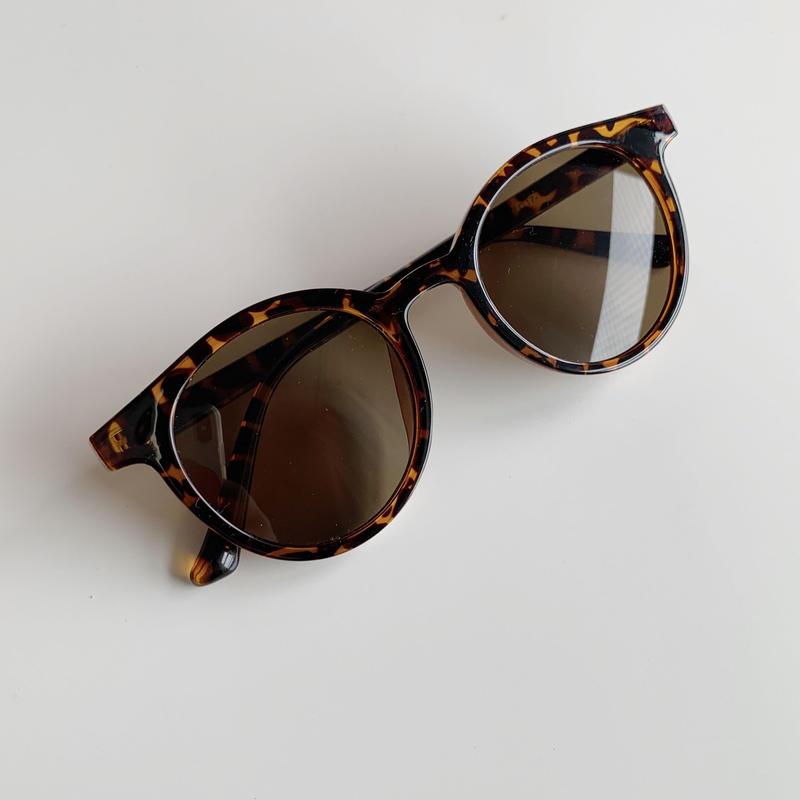 round sunglasses[leopard]