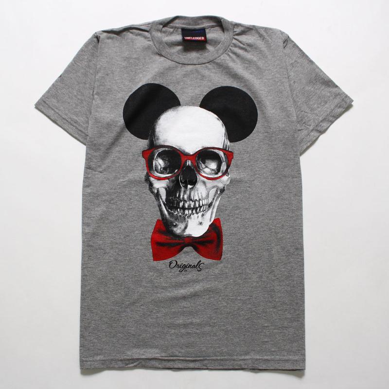 デザインTシャツ 骸骨 ねずみTシャツ