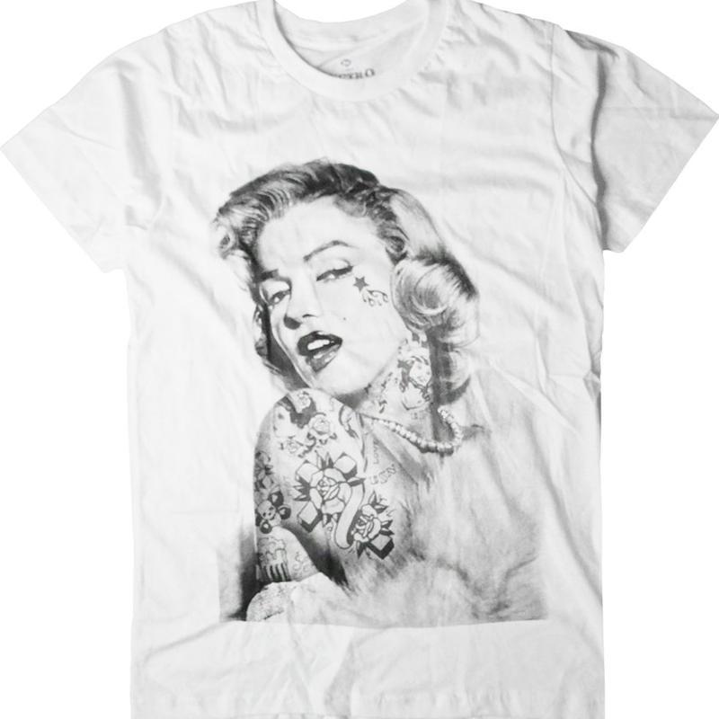 ロックTシャツ Marilyn Monroe マリリン モンロー タトゥー