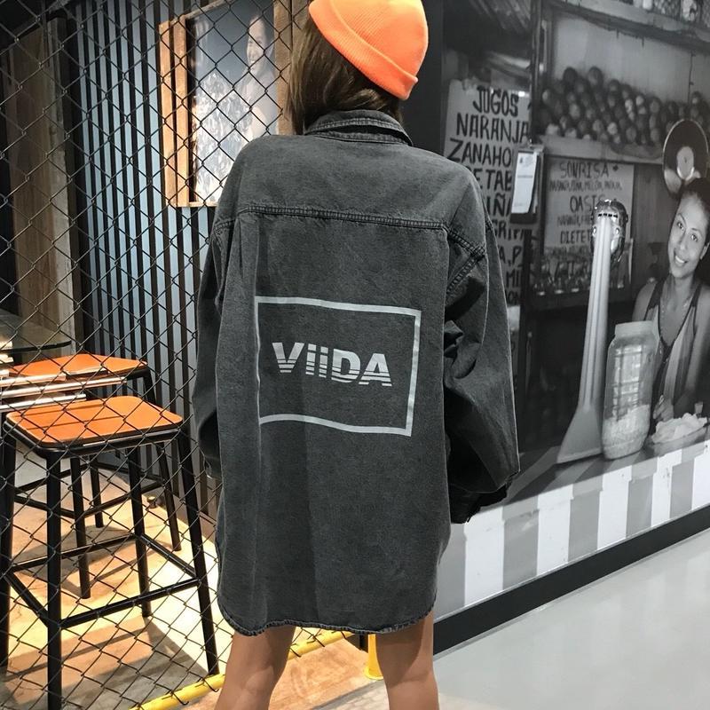 ViiDAデニムシャツ(black)