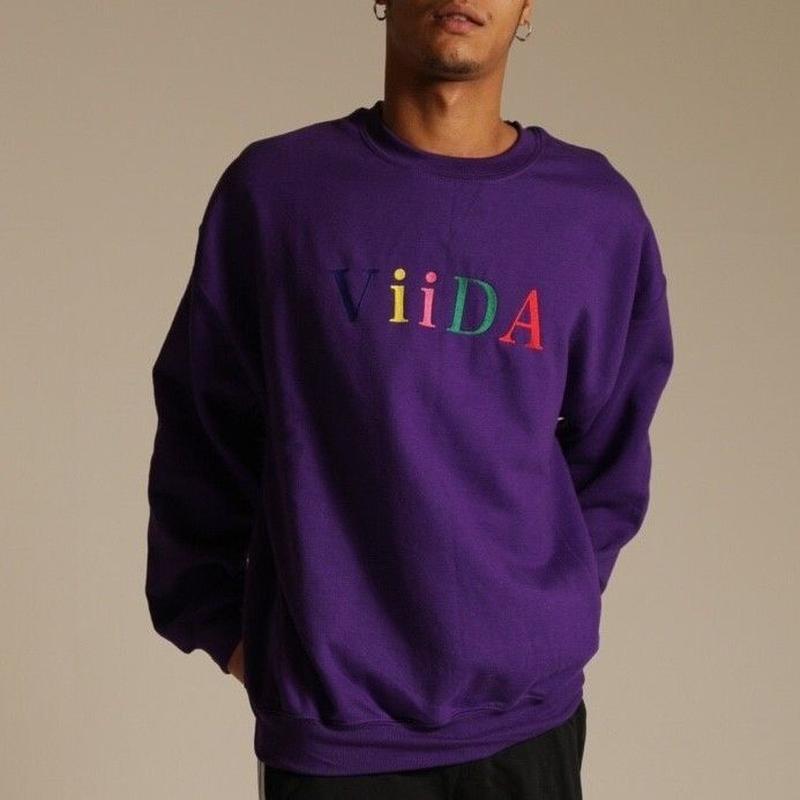 Colorful刺繍ロゴスウェット (purple)