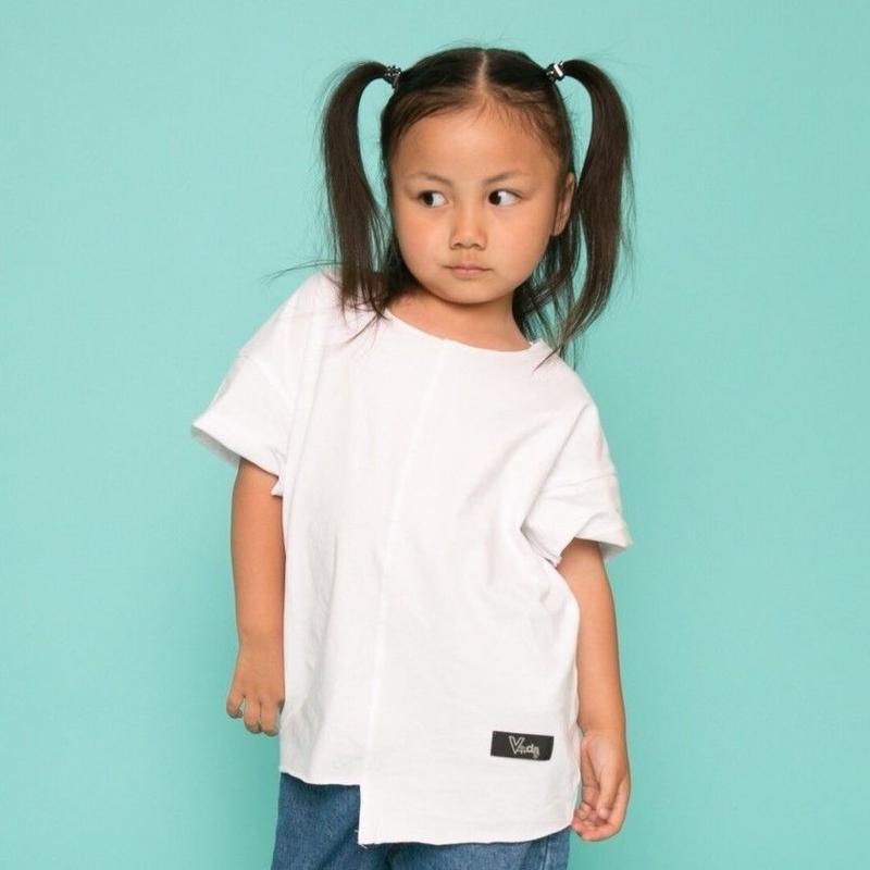 ViiDAkids アシンメトリーT-shirt (white)