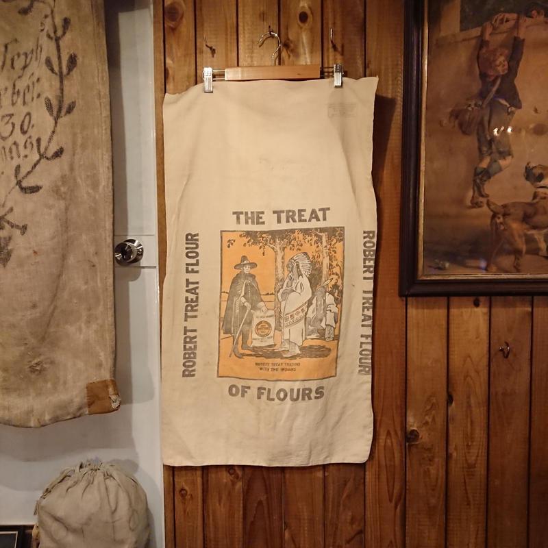 Vintage  Cotton bag for crops.  ①