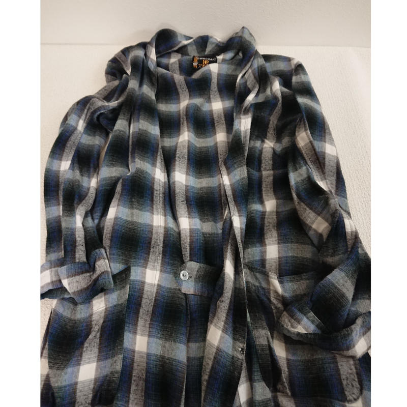 【 1960s~  TOWN  CRAFT 】Ombre check Flannel gown.