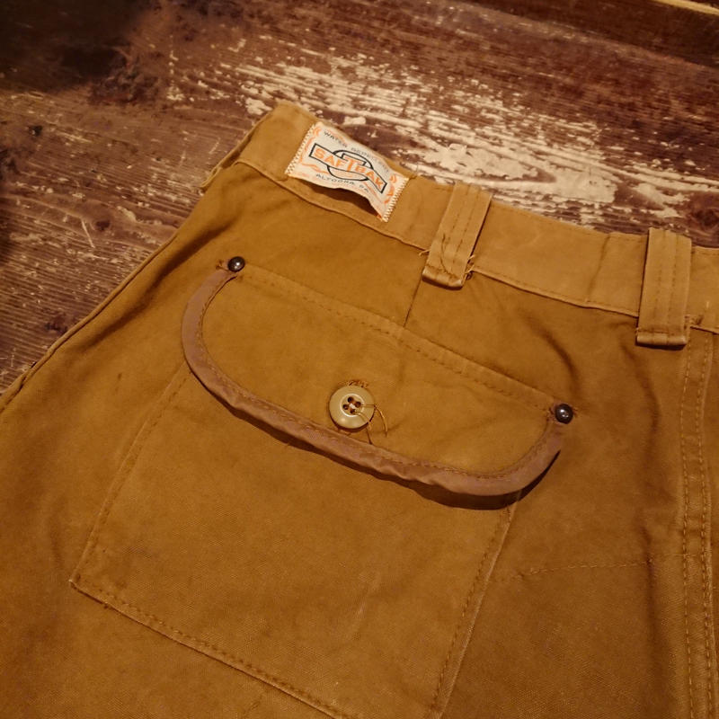 【 ~1970s  SAFTBAK 】Brown duck hunting trousers.
