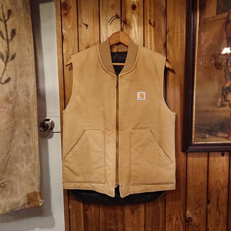 1980s~  Carhartt  Duck fabric work vest.