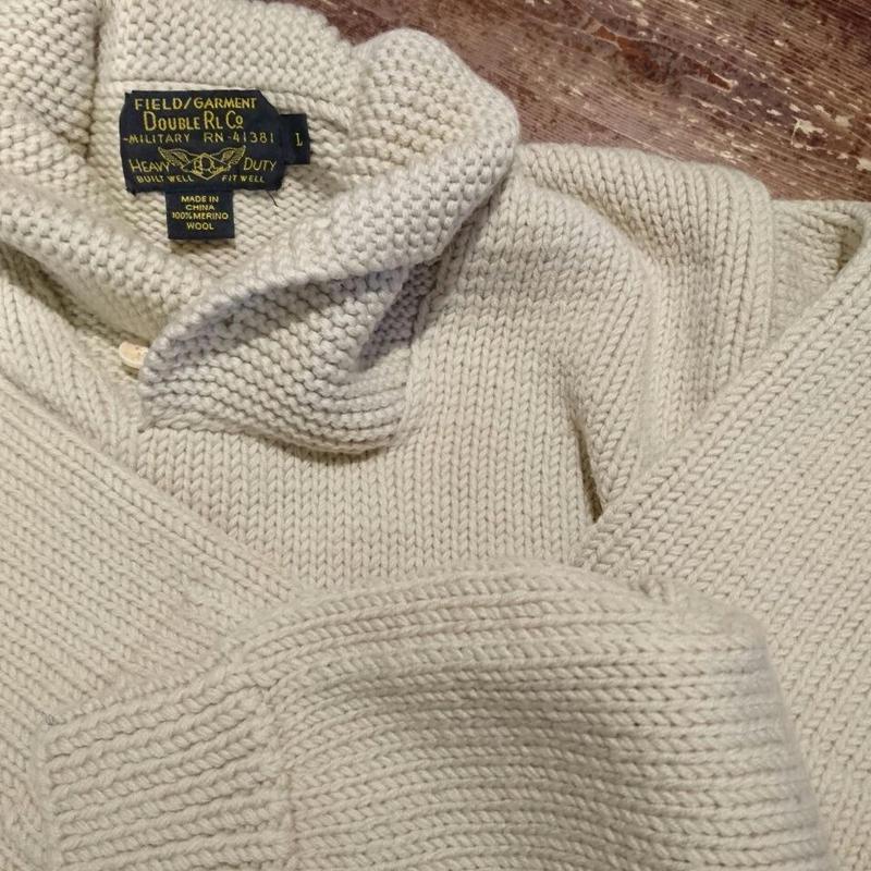 RRL    Shawl collar   Wool  sweater
