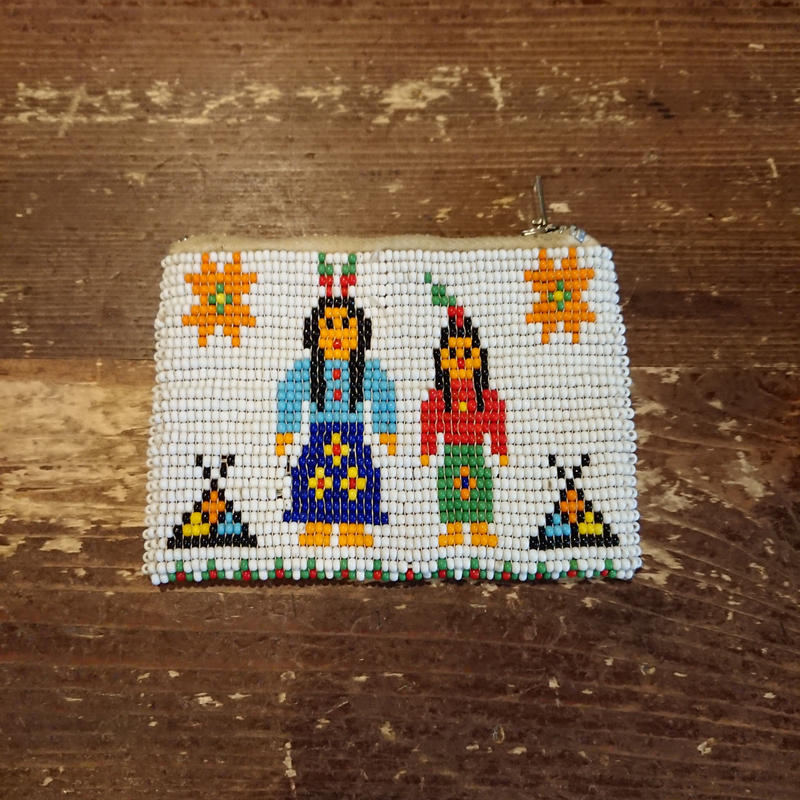 1960s~  Indian pattern beads purse.