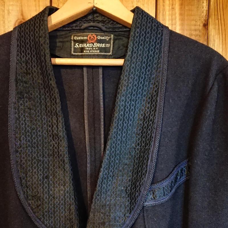 ~1930s  Dark Blue Smoking Jacket.