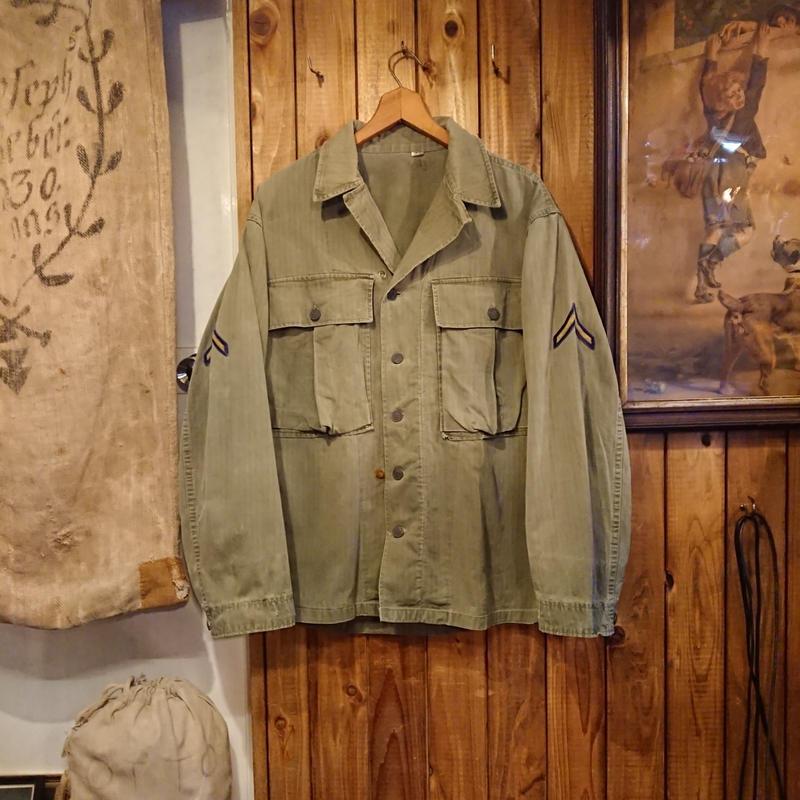 【 1940s U.S.ARMY M-43 】HBT Fatigue shirt.