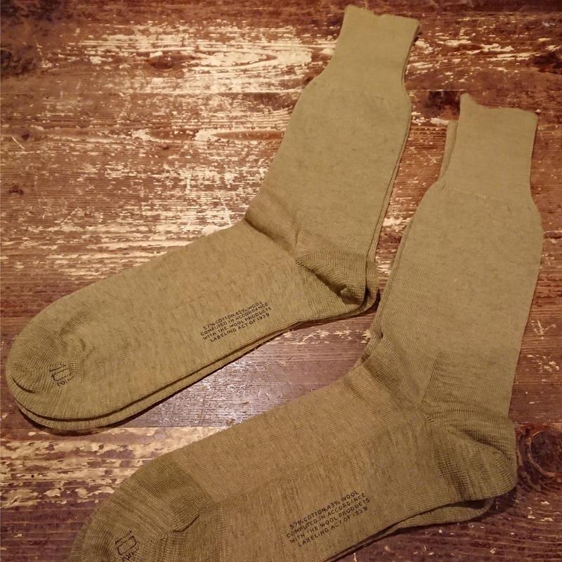 【 1940s  U.S.ARMY 】Wool cotton socks.
