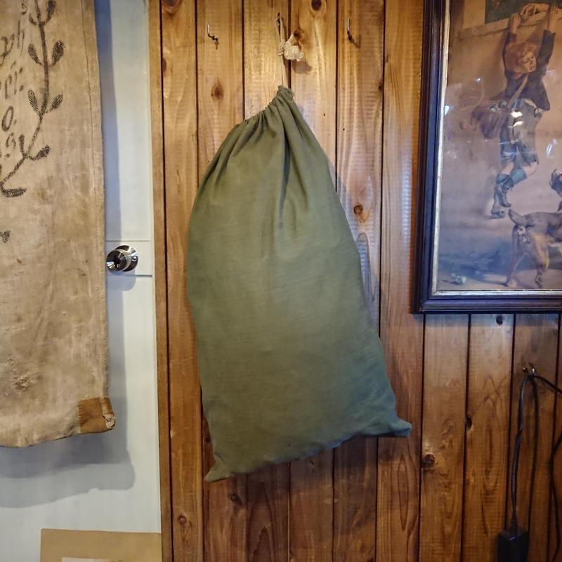 【 1940s  U.S.ARMY 】HBT Cotton laundry bag.
