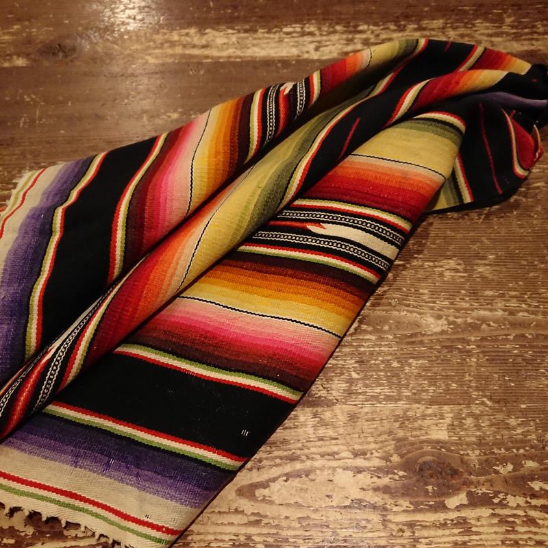 1930s~1940s  Vintage Woolen sarape.