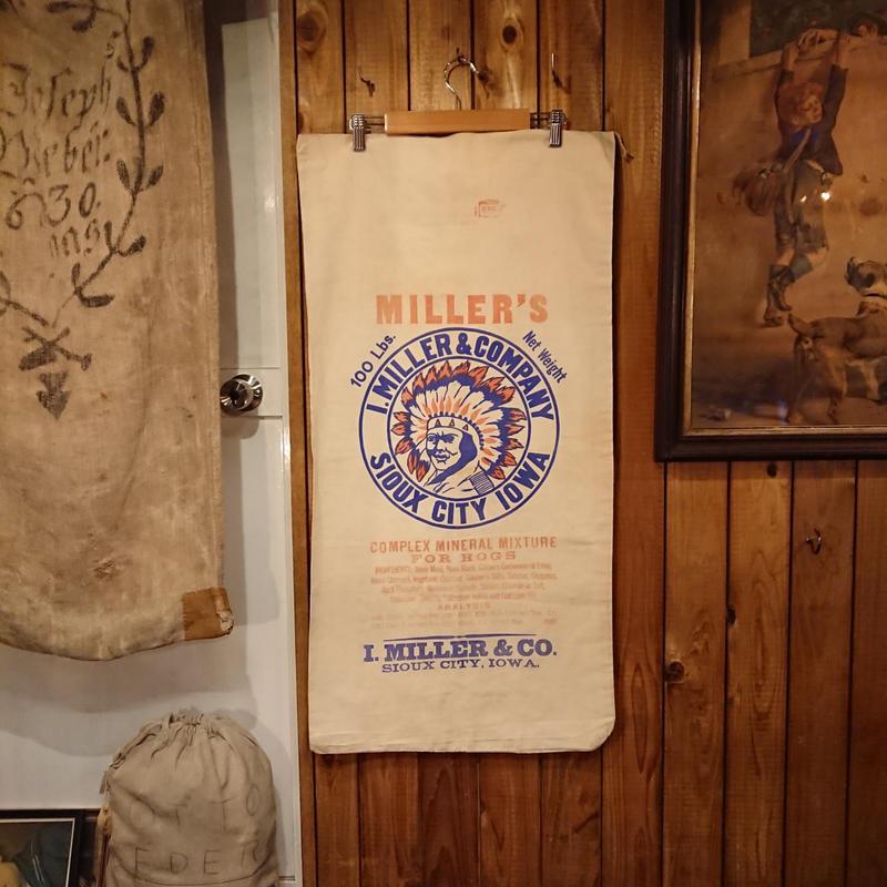 Vintage  Cotton bag for crops.  ②