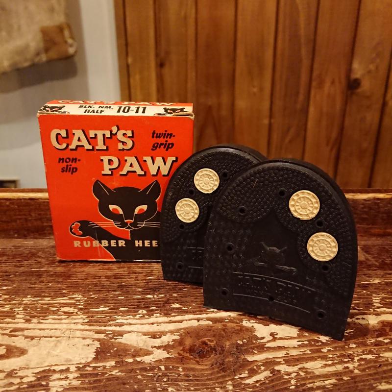 【 1950s~  CAT'S PAW 】  Heel rubber.