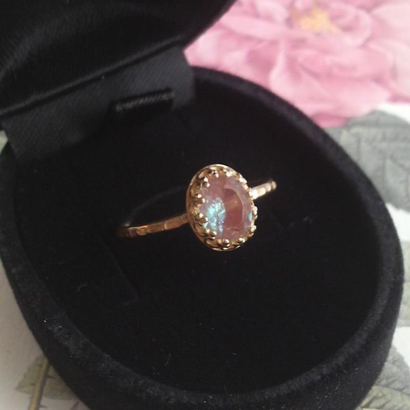 サフィレット(アンティーク)ShinyBrass指輪