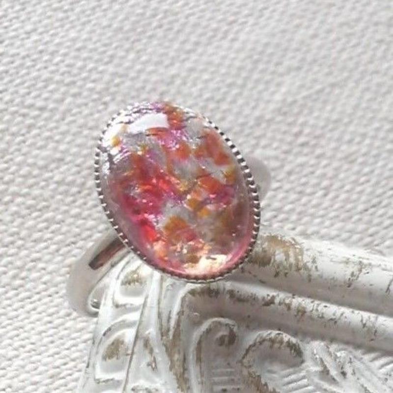 ヴィンテージ OrangeRose シルバー指輪