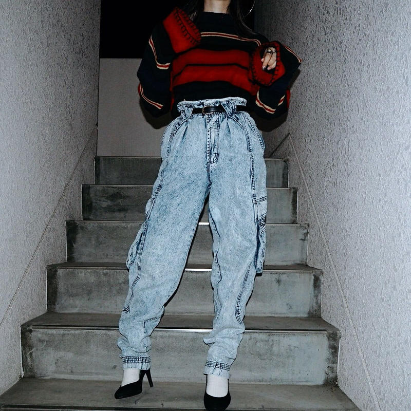 """Jordache"" Chemical  Tepared Denim  Pants"