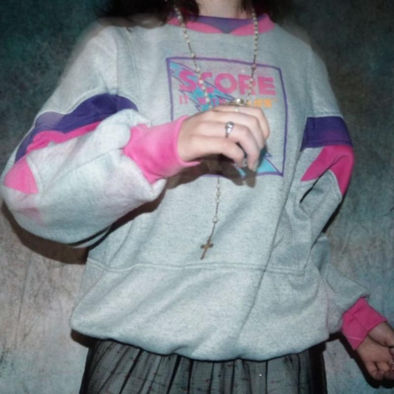 80's Pink×Purple Sweat