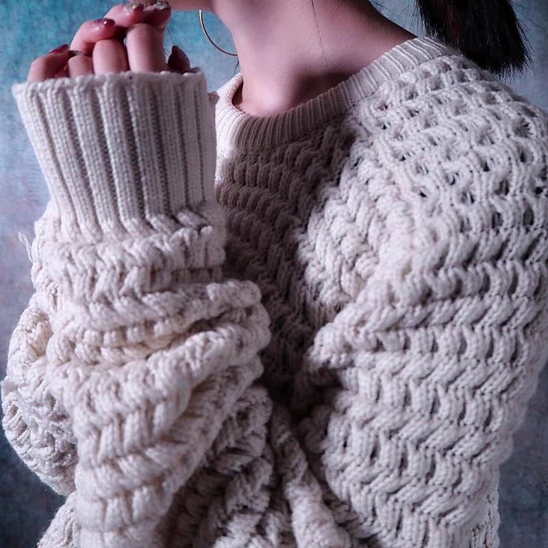Popcorn  Knit