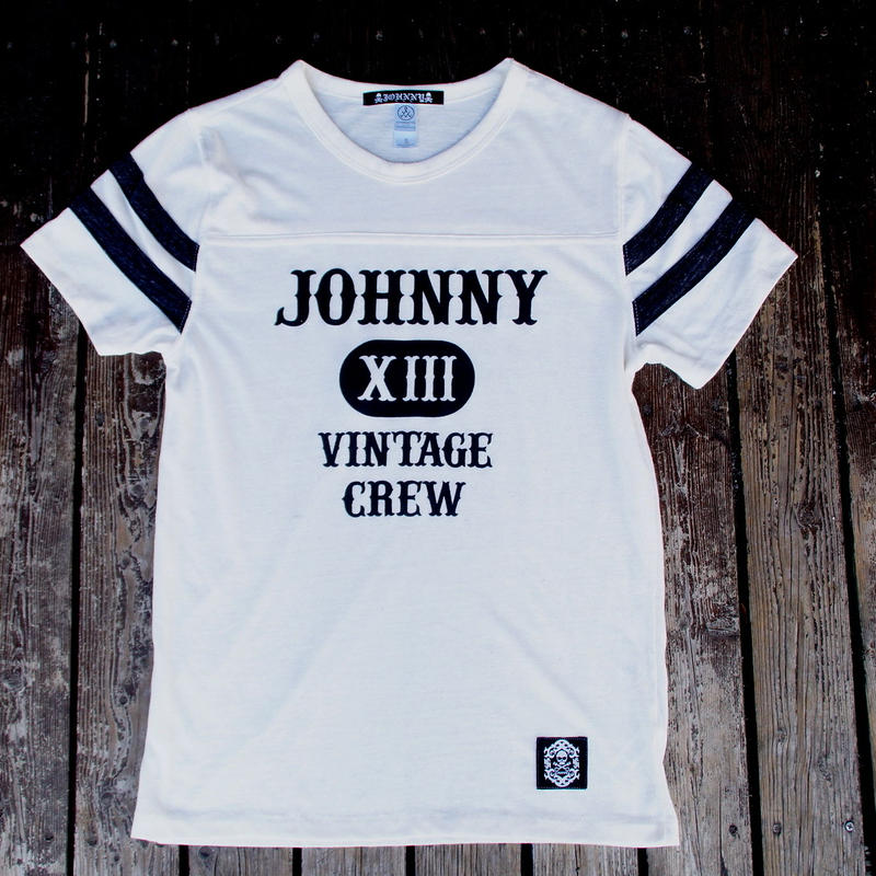 2017 JOHNNY FOOTBALL T/S【WHT/BLK】