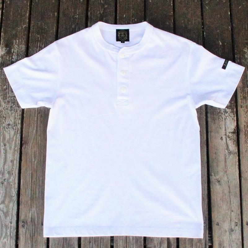 2018 JOHNNY  HENLY NECK T-SHIRTS【WHITE】