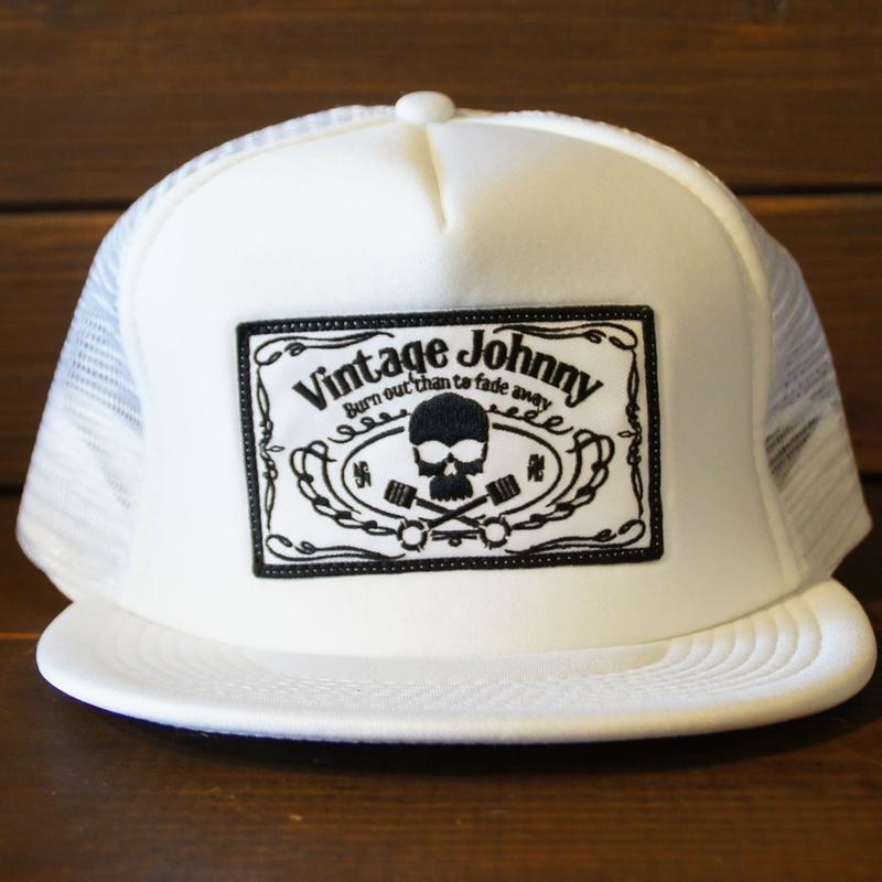 JOHNNY MESH CAP 【WHITE/FTW】スクエアワッペン