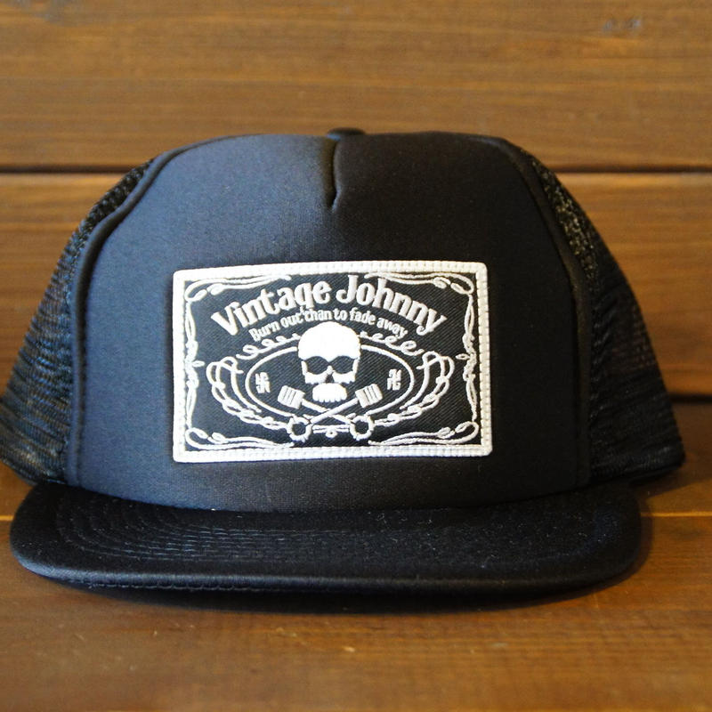JOHNNY MESH CAP【BLACK/CHOP/】  スクエアワッペン