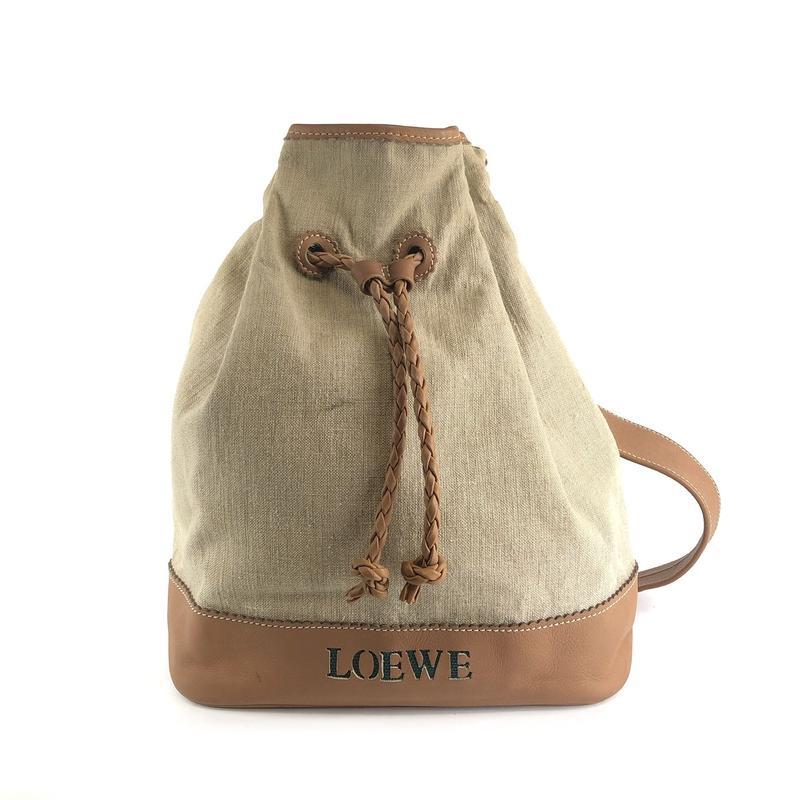 LOEWE ロエベ 巾着バッグ ショルダーバッグ ベージュ vintage ヴィンテージ オールド